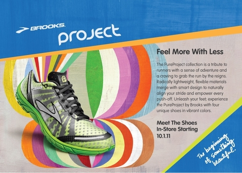 Brooks Pure project postcard